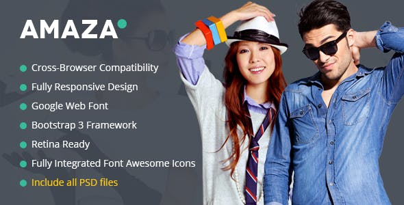Amaza v1.0 - Fashion Store HTML Template preview image