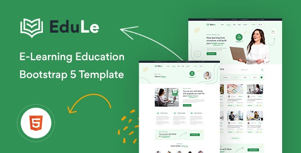 Edule v1.0 - eLearning Website Template preview image