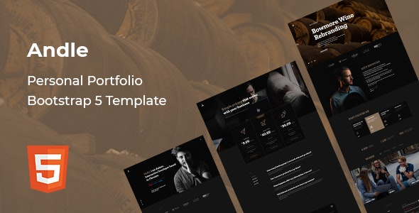 Andle v1.0 - Personal Portfolio Bootstrap 5 Template preview image