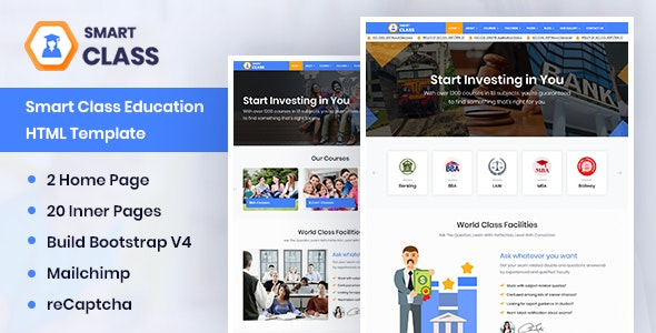 SmartClass v1.0 - Education Agency Coaching & Tuition HTML Template preview image