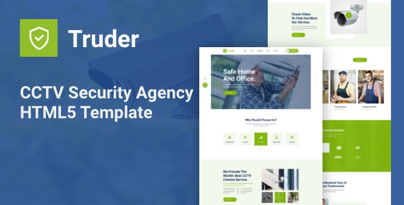 Truder v1.0 - CCTV Security Service Agency HTML Template preview image
