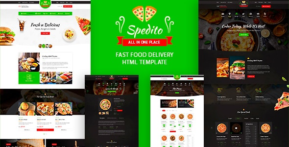 Spedito v1.0 - Ordering Fast Food HTML Template preview image