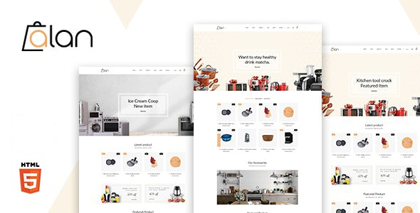 Alan v1.0 - Kitchen Accessories Bootstrap 5 HTML Template preview image
