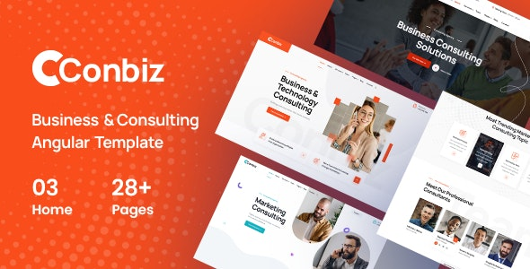 Conbiz v1.0 - Consultancy & Business Angular Template preview image