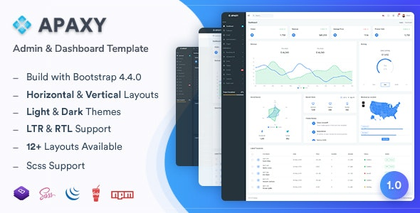 Apaxy v1.0 - Admin & Dashboard Template preview image