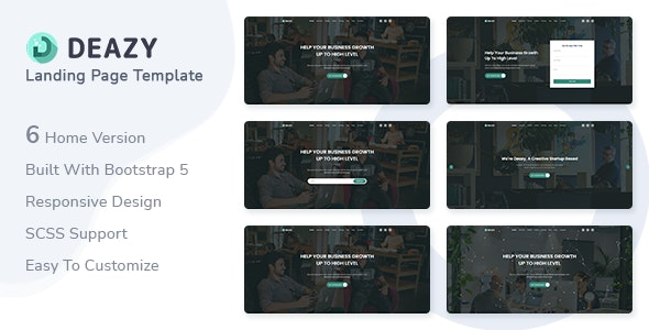 Deazy v1.0 - Bootstrap 5 Landing Page Template preview image