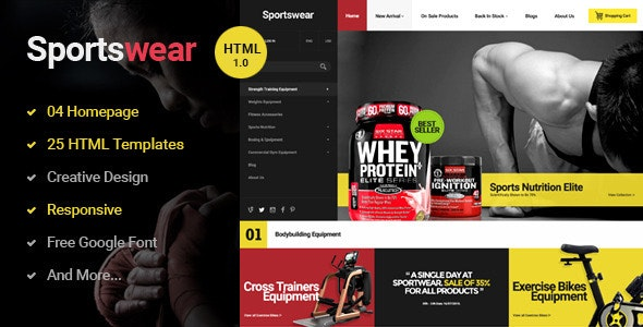 Sportwear v1.0.0 - Multi Store Responsive HTML Template preview image