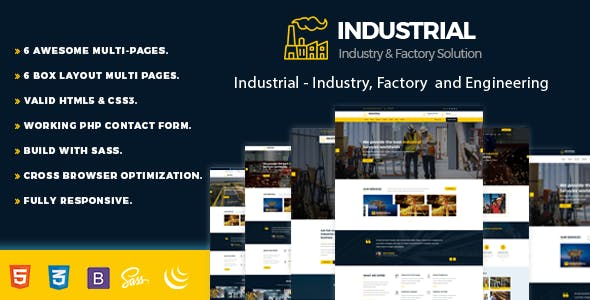 Industrial v1.0.0 - Industry, Factory and Engineering Template preview image