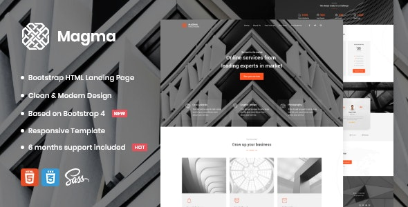 Magma v1.0 - Business Landing Page Template preview image