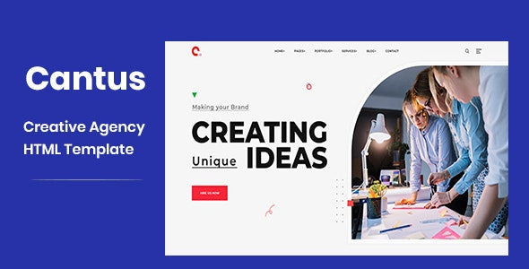 Cantus v1.0 - One Page Agency HTML Template preview image