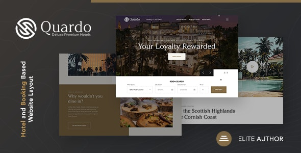 Quardo v1.0 - Deluxe Premium Hotels HTML Template preview image