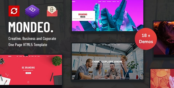 Mondeo v1.0 - One Page Creative Marketing HTML Template preview image