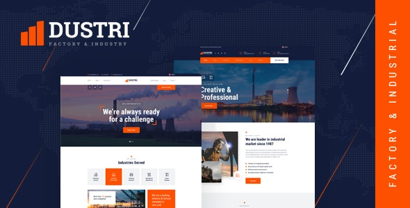 Dustri v1.0 - Factory & Industrial HTML Template preview image