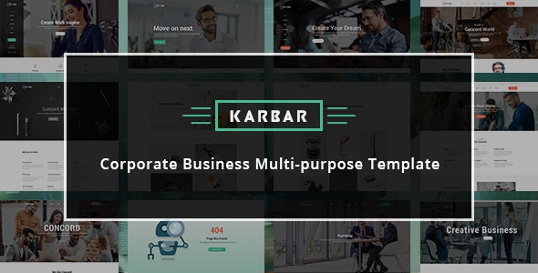 Karbar - Multipurpose Bootstrap 4 Template preview image