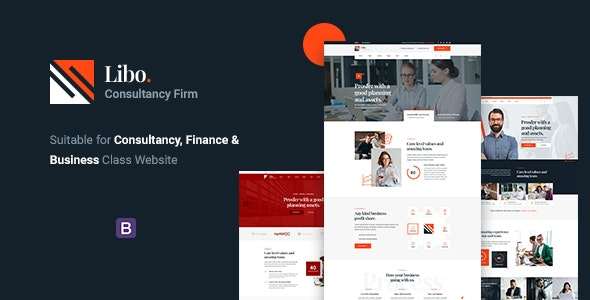 Libo v1.0 - Consulting Business HTML Template preview image
