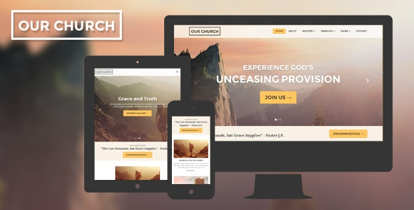 Church v1.2 - Responsive HTML5 Website Template preview image