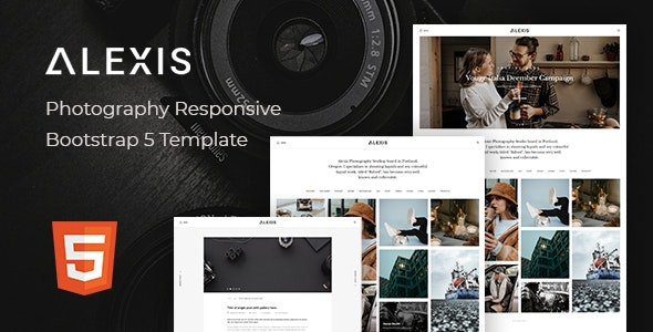 Alexis v1.0 - Photography Responsive Bootstrap 5 Template preview image