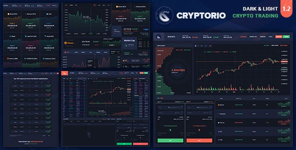 Cryptorio v1.0 - Cryptocurrency Trading Dashboard HTML Template preview image