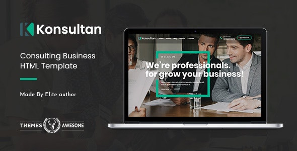 Konsultan v1.0 - Consulting Business HTML Template preview image