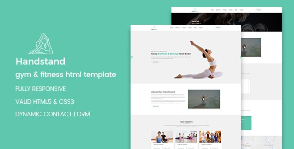 Handstand - Gym & Fitness HTML Template preview image