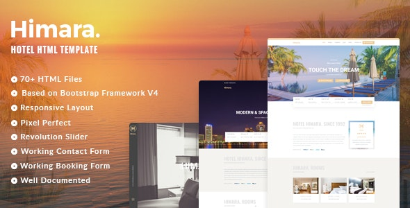 Himara v1.2.0 - Hotel Booking Template preview image