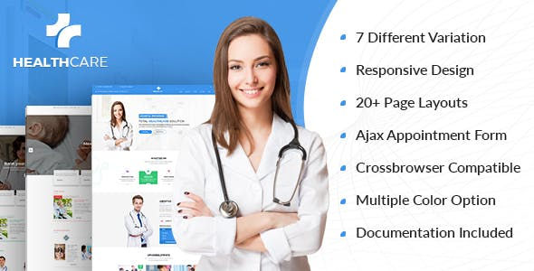 Health Care v1.0 - Doctor Hospital Clinic Medical Responsive Website Template preview image