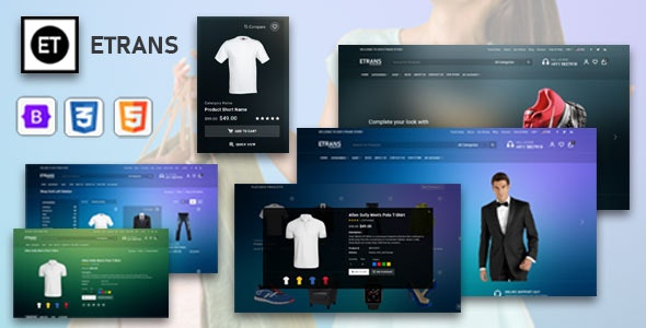 eTrans v1.0 - eCommerce HTML Template preview image