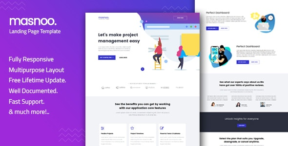 Masnoo - Multipurpose Landing Page Template preview image