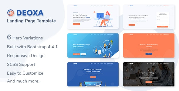 Deoxa v1.0 - Landing Page Template preview image