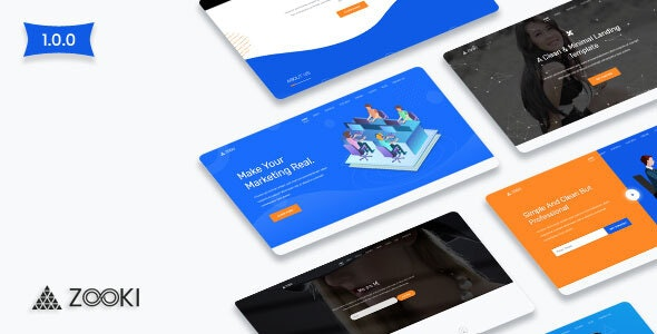 Zooki v1.0.0 - Landing Page Template Product Image