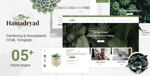Hamadryad v1.0.0 - Gardening & Houseplants HTML Template preview image