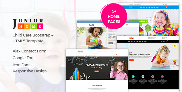 JuniorHome - Education HTML Template preview image