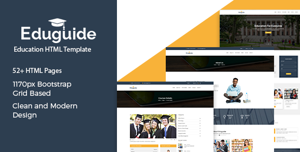 Eduguide - Education HTML Template preview image