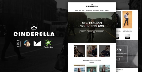 Cinderella v1.0 - E-commerce Responsive Email Template preview image