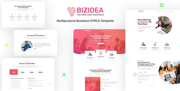 Bizidea v1.0 - Multipurpose Business HTML5 Template preview image
