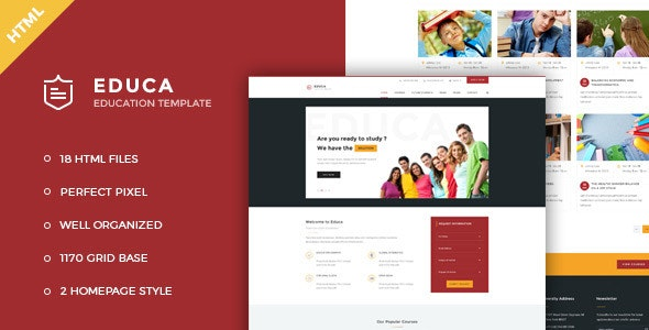 Educa v1.0 - Education & Courses HTML Template preview image
