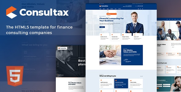 Consultax v1.0 - Financial & Consulting HTML5 Template preview image