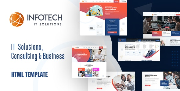 Infotech v1.0 - IT Solutions HTML5 Template preview image