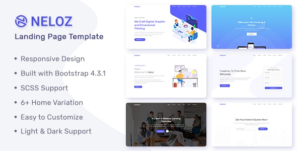 Neloz v1.0.0 - Landing Page Template preview image