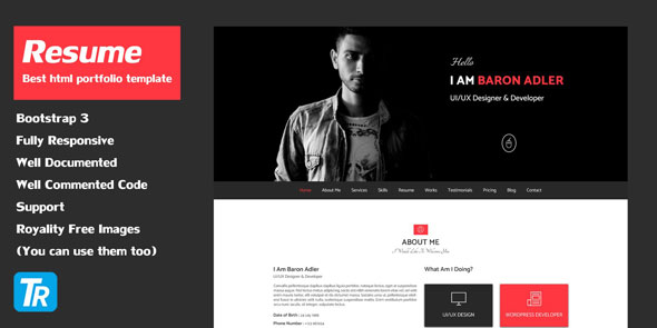 Resume - Personal Portfolio Web Template preview image