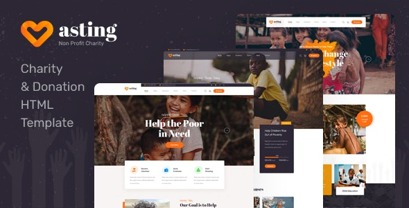 Asting v1.0 - Charity & Donation HTML Template preview image