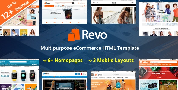 Revo v1.0 - Responsive MultiPurpose HTML 5 Template (Mobile Layouts Included) preview image