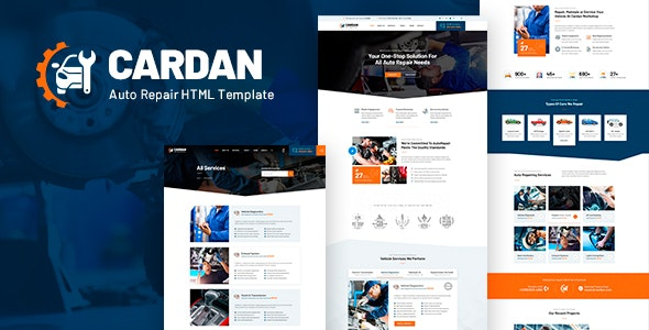 Cardan v1.0 - Car Repair Services HTML Template preview image