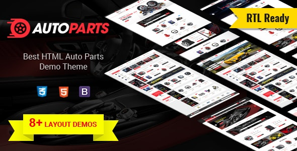 AutoParts v1.0 - Tools, Equipments and Accessories Store HTML Template preview image