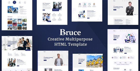 Bruce v1.0.0 - Creative Multipurpose HTML Template preview image