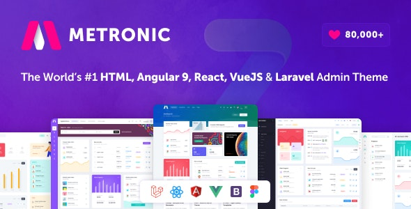 Metronic v7.2.5 - Bootstrap 4 HTML, React, Angular 9, VueJS & Laravel Admin Dashboard Theme preview image