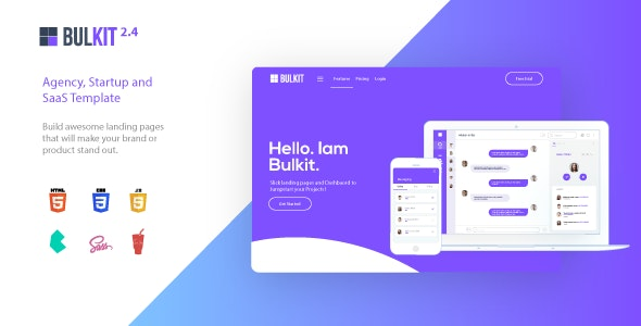 Bulkit v2.4.0 - Saas Landing Pages preview image
