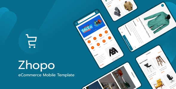 Zhopo v1.0 - eCommerce Mobile Template preview image