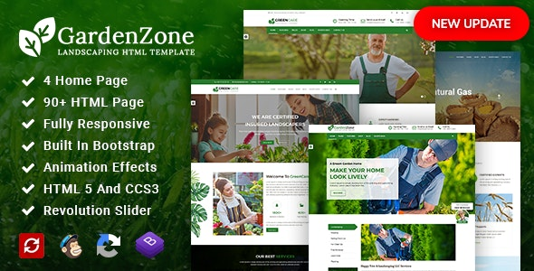 GardenZone v2.3 - Agriculture, Gardening & Landscaping Responsive HTML Template preview image