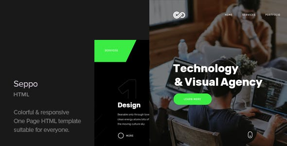 Seppo v1.1 - Corporate One Page HTML Template preview image